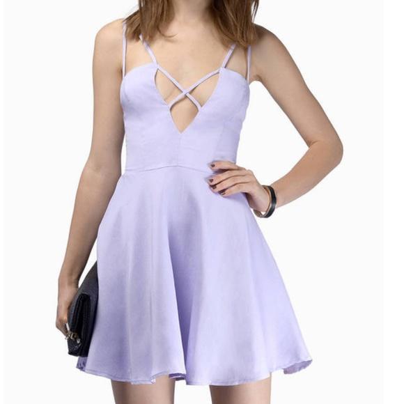 Tobi Lavender Skater Dress Small NWT fe728354d